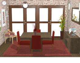 Sala de jantar casa 31
