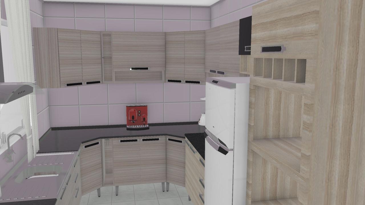Cozinha De Fernando Planta 3d Mooble