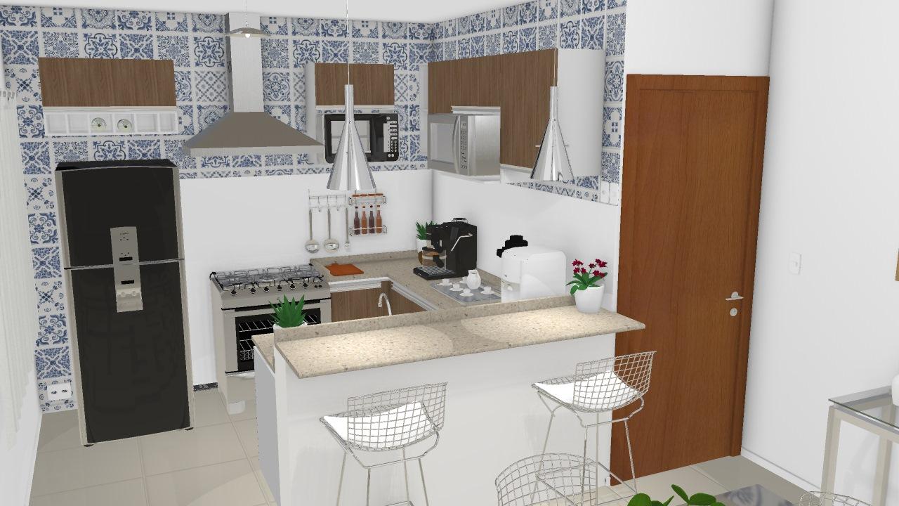 Meu Projeto No Mooble Cozinha Americana De Camila Planta 3d Mooble