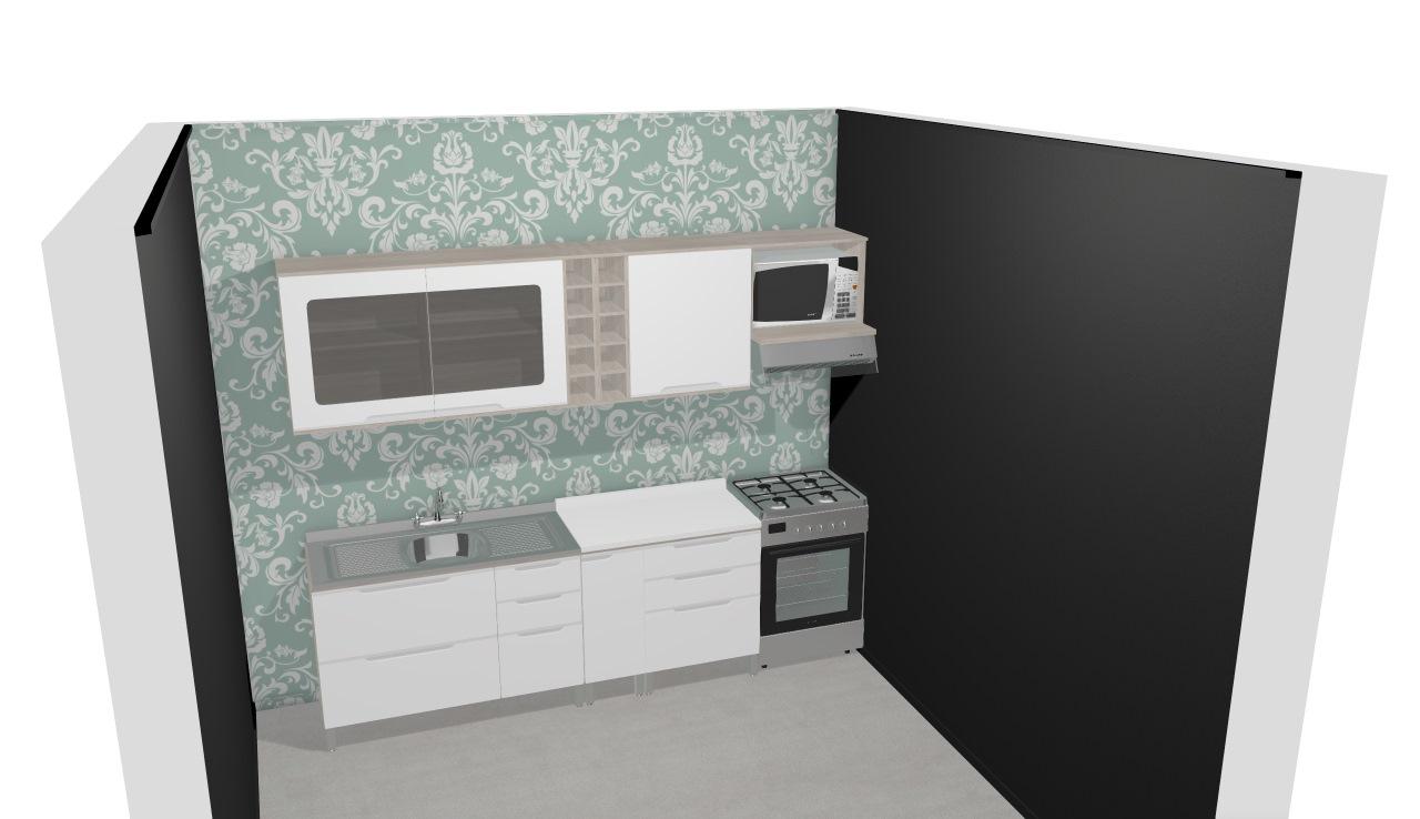 Cozinha Modulada Completa Com 8 M Dulos Solaris Carvalle Branco