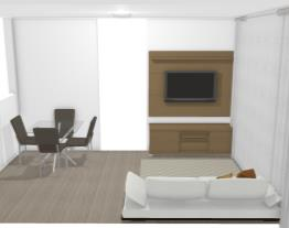 sala de estar rack+painel