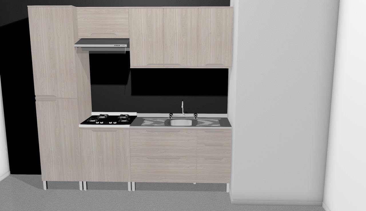Cozinha Modulada Completa Com 5 M Dulos Solaris Carvalle Branco