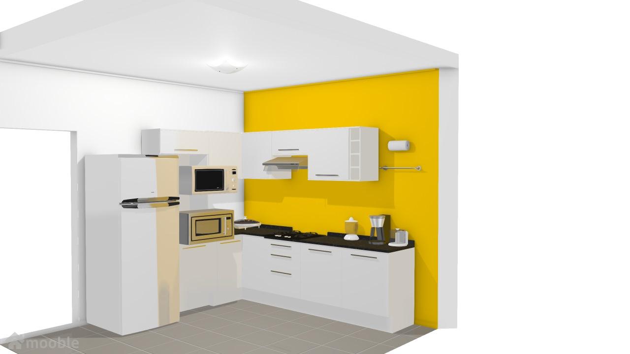 cozinha unique amarela