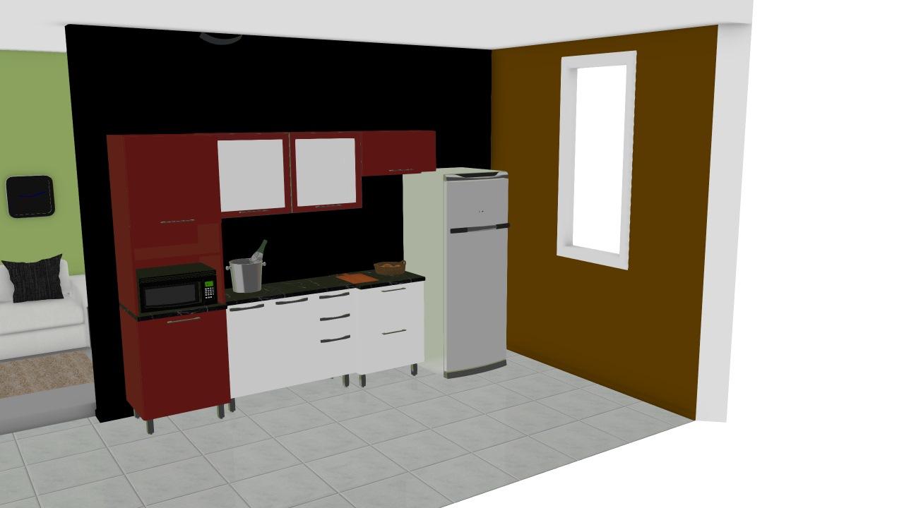Cozinha Modulada Em A O Completa 5 M Dulos Play Vermelho P Prica