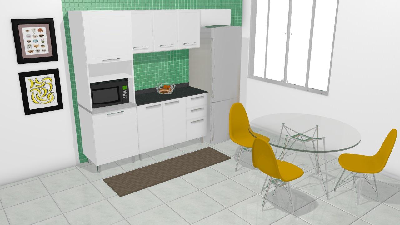 Cozinha Modulada Em A O Completa 5 M Dulos Play Bege Baunilha Branco