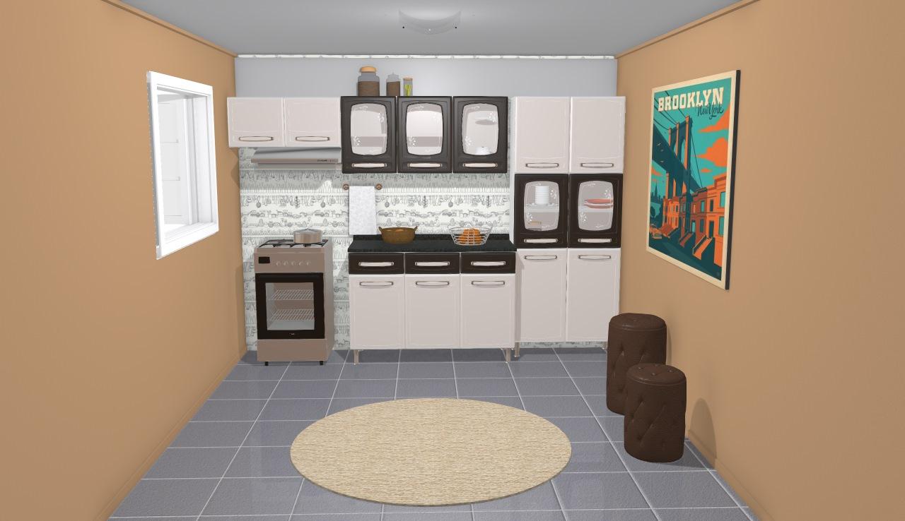 Cozinha Modulada Completa 4 M Dulos Com Vidro Evidence Em A O Branco