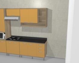 Cozinha Compacta 11 Portas e 3 Gavetas Sicília Argila/Amarelo - Multimoveis