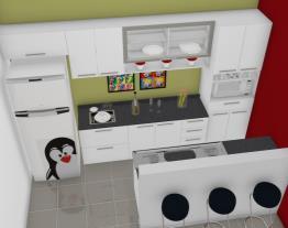 Cozinha Lady Mon Bancada Americana