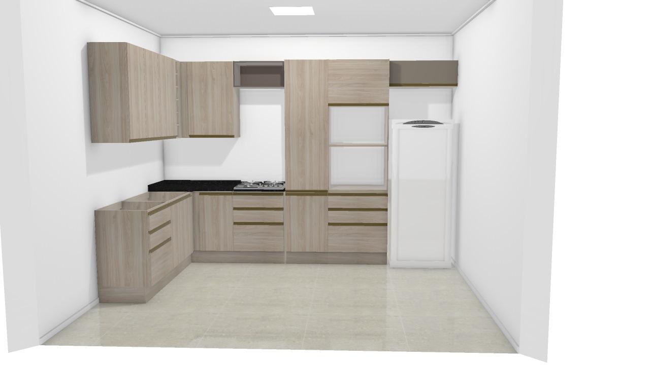 Cozinha Completa De Beatriz Planta 3d Mooble Kappesberg