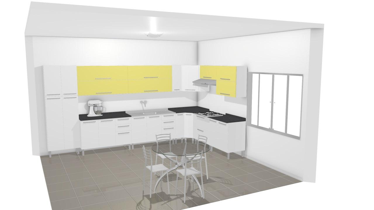 Cozinha Dandara De Ana Planta 3d Mooble Itatiaia