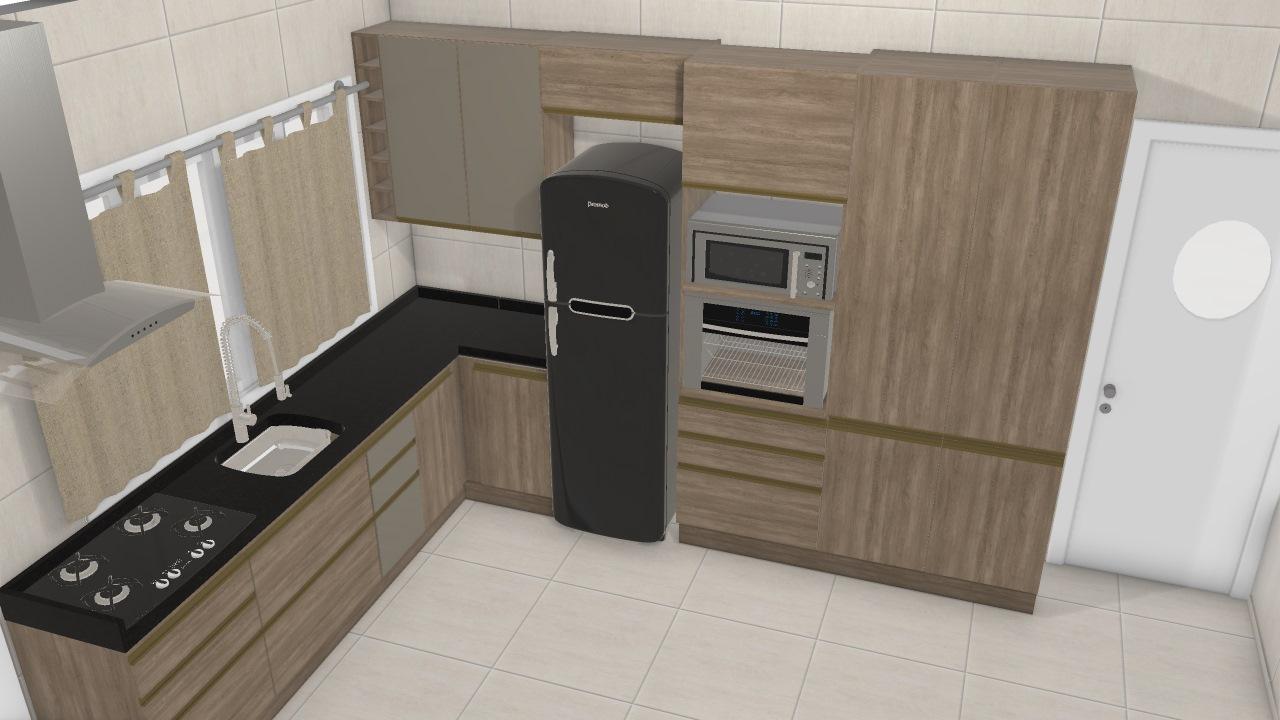 Cozinha Maxx De Quezia Planta 3d Mooble Kappesberg