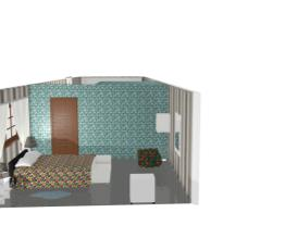 Modelo de quarto e sala americano para terrenos estreitos.