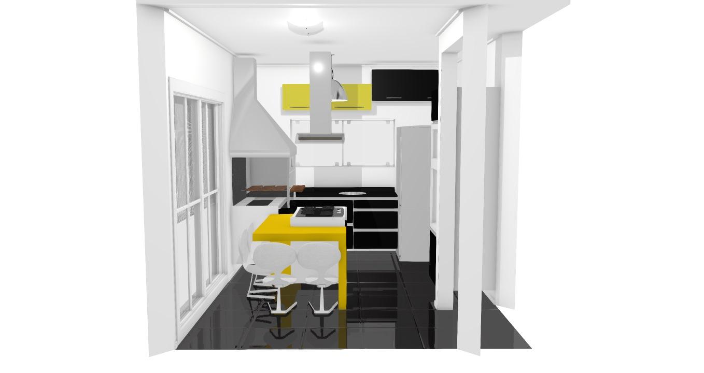 Cozinha Ilha De Marcelo Planta 3d Mooble Leroy Merlin