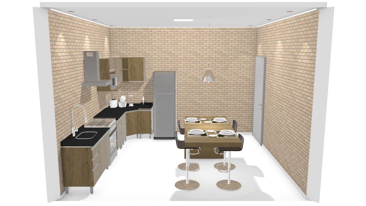 Cozinha Industrial De J Lia Planta 3d Mooble