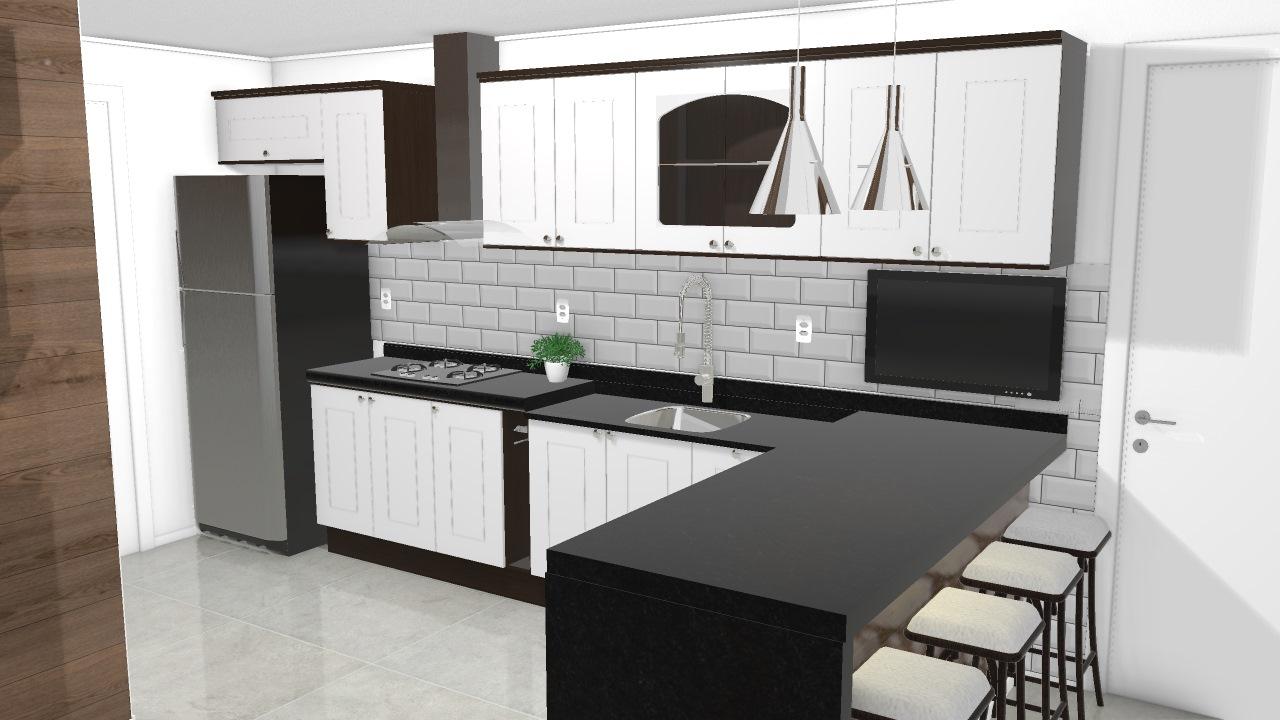 Cozinha Provenzza Ilha De Dina Planta 3d Mooble Kappesberg