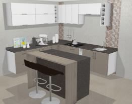 Cozinha Saint Troper com Ilha