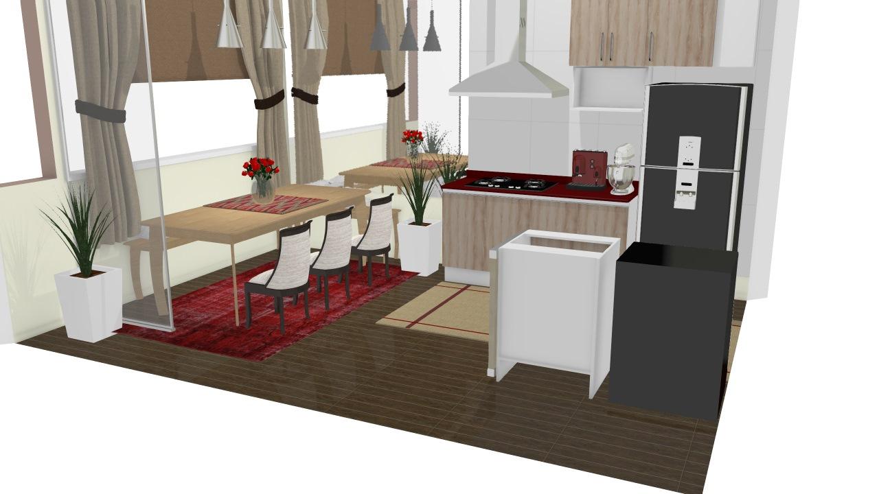 Cozinha Em Rea De Cobertura Com Churrasqueira De Fabiana Planta