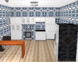 Cozinha revestimento detalhes em azul