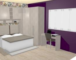 Quarto Casal com Guarda-roupas Modulados, Cabeceira e Escrivaninha Araucária/Preto - Caaza