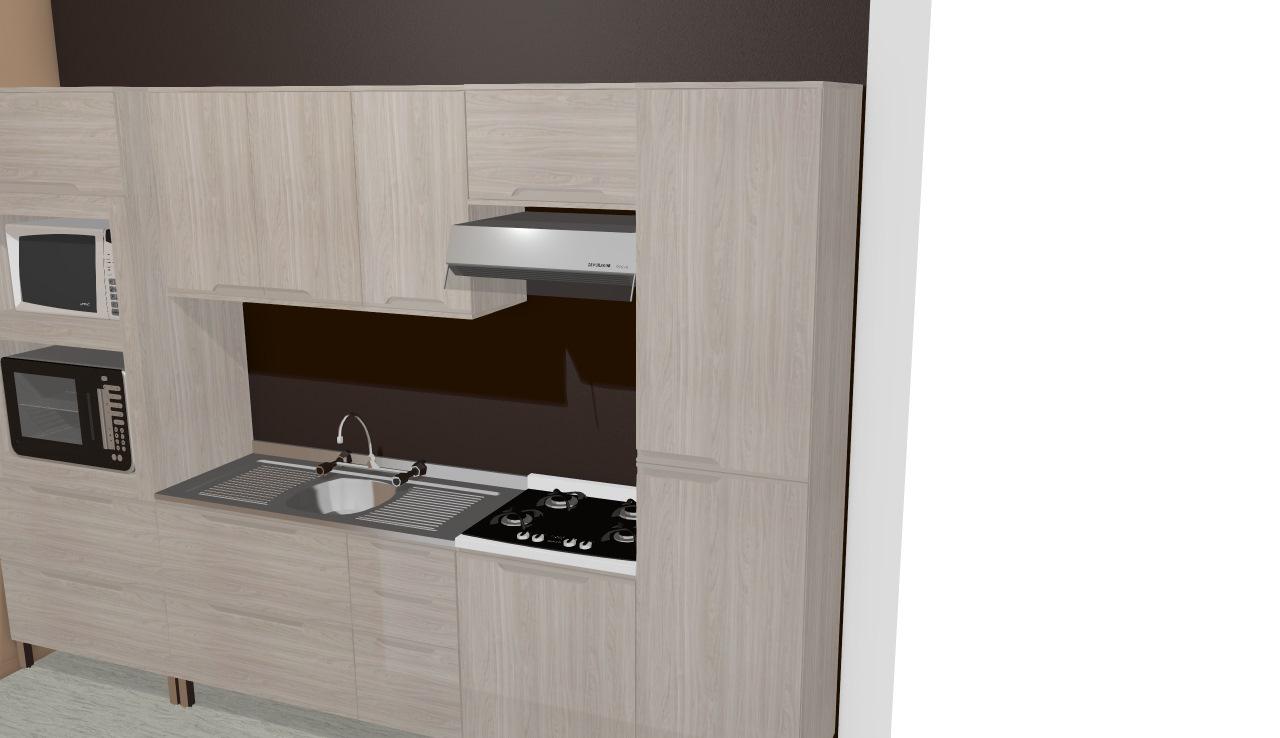 Cozinha Modulada Completa Com 6 M Dulos Solaris 100 Mdf Carvalle