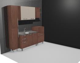 Cozinha Modulada Completa com Paneleiro Simples 2 Portas Smart Turin/Cristal - Henn