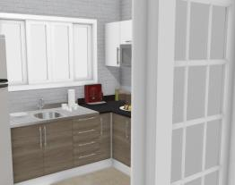 Cozinha de tijolos