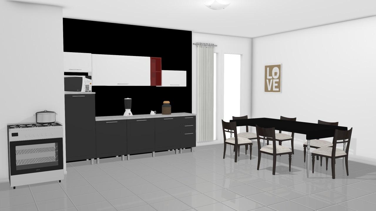 Cozinha Modulada Em A O Completa 8 M Dulos Play Preto Jabuticaba