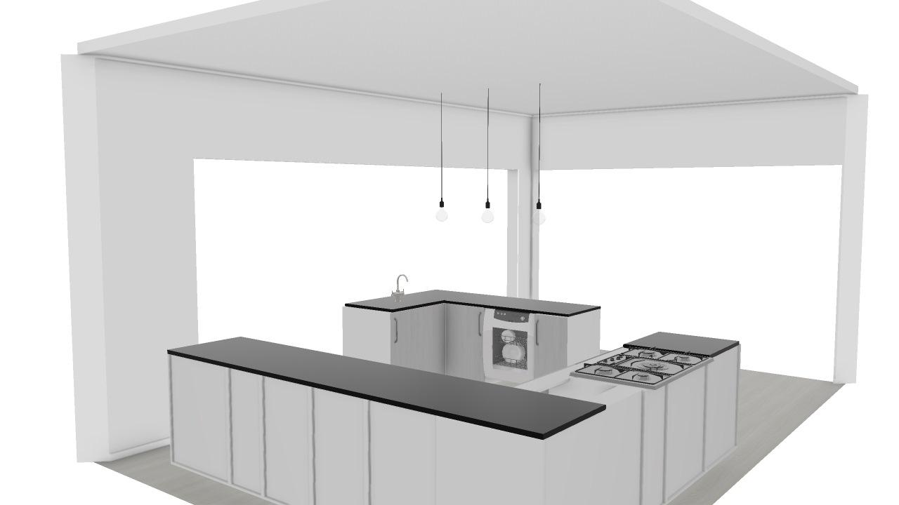 Cozinha Ilha De Adriane Planta 3d Mooble Leroy Merlin