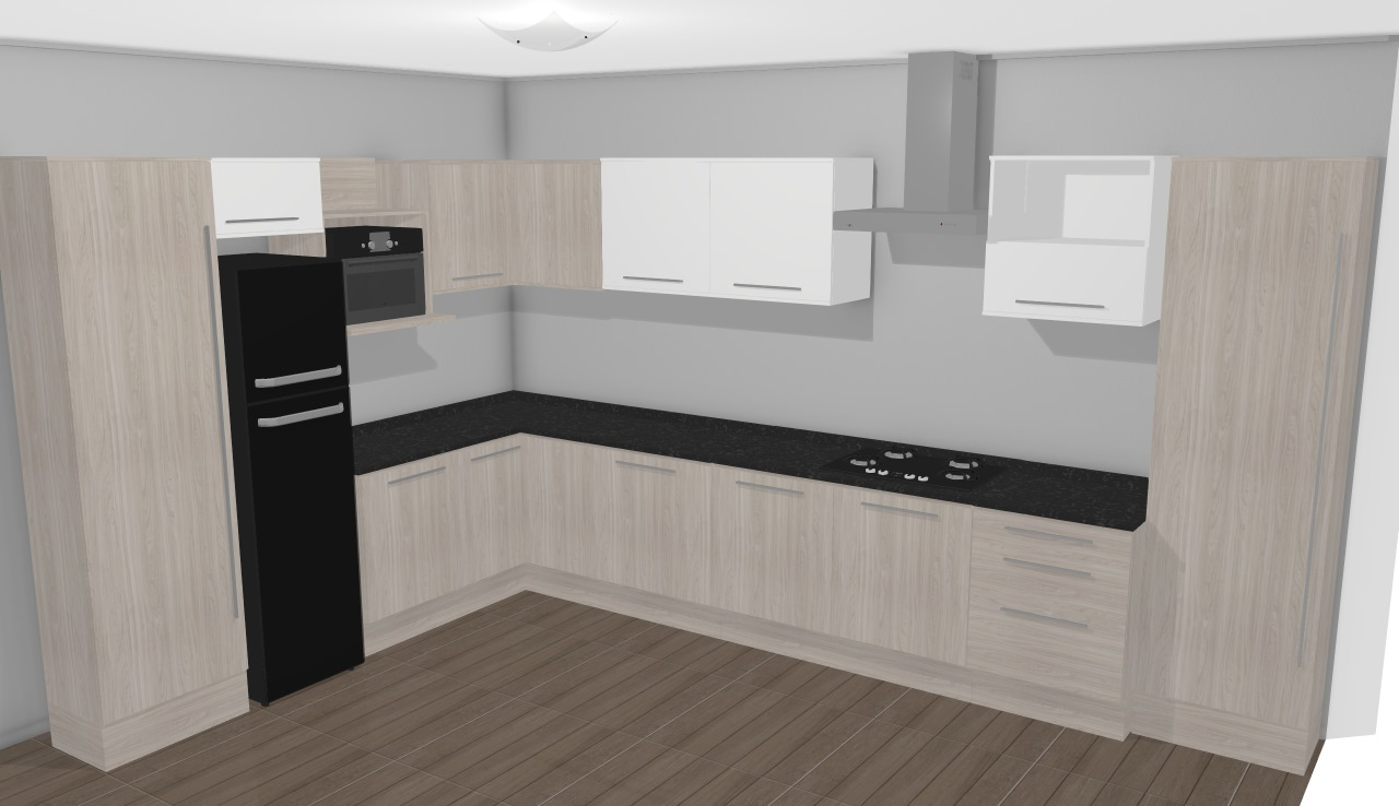 Cozinha Modulada Completa 12 M Dulos Unique Carvalle Branco