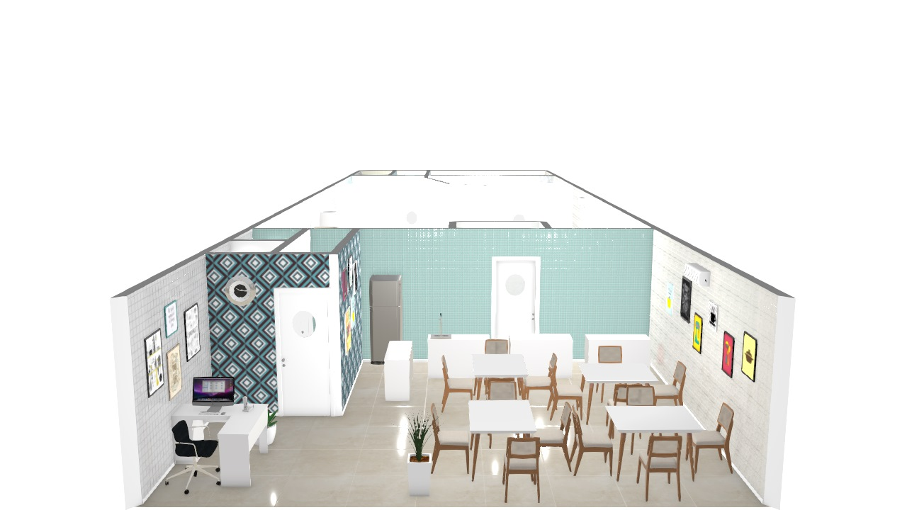 Cozinha Industrial De Cleusa Planta 3d Mooble