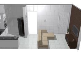 Cozinha conjugada Normal com parede 4