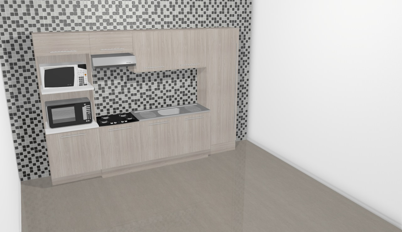 Cozinha Modulada Completa 6 M Dulos Unique Branco Kappesberg De