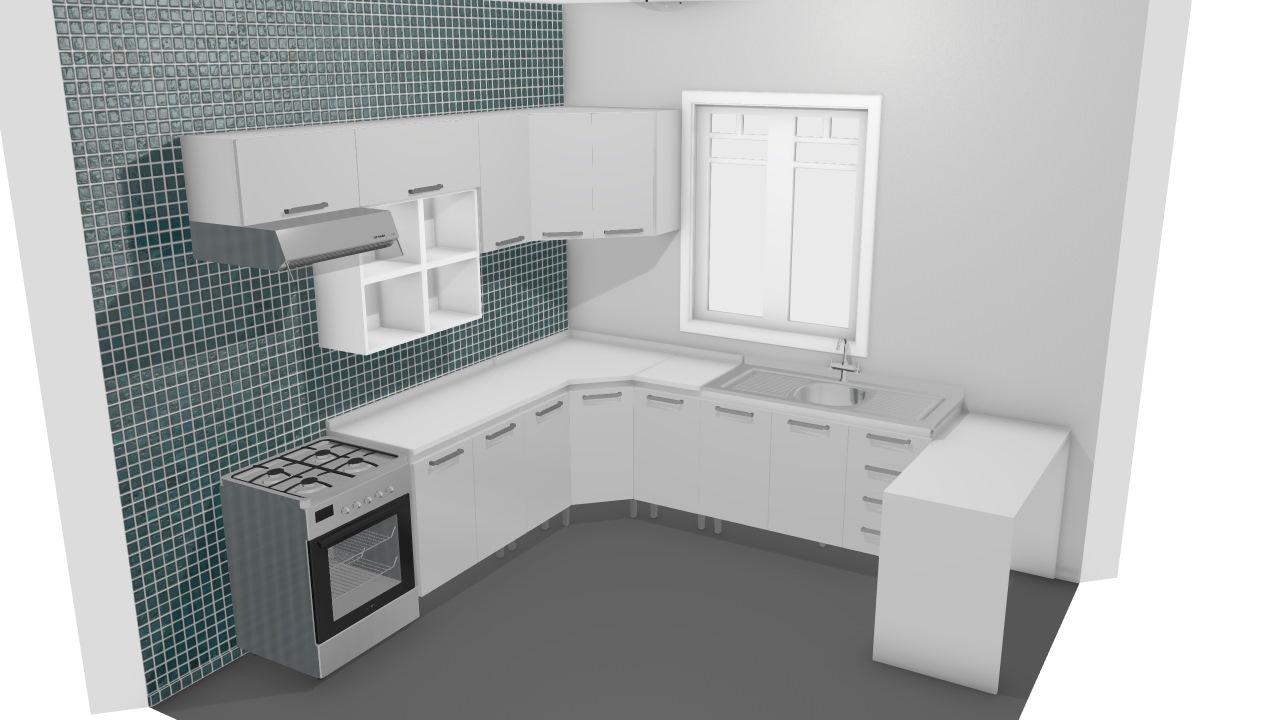 Cozinha Modulada Completa 11 M Dulos Com Prateleira E Bancada Clean