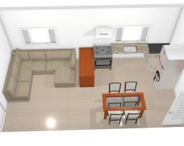 Cozinha integrda com a sala