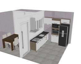 cozinha e lavanderia e sala de jantar