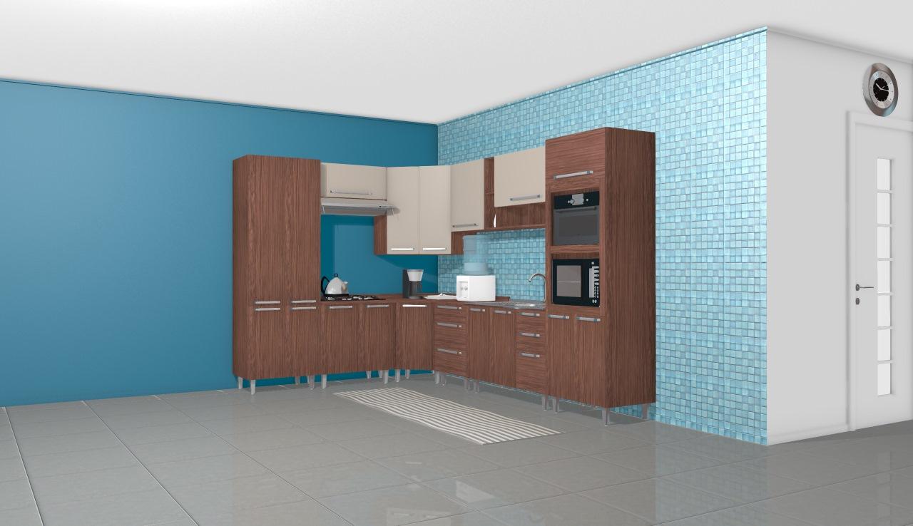 Cozinha Modulada Completa Com 10 M Dulos Smart Turin Cristal Henn