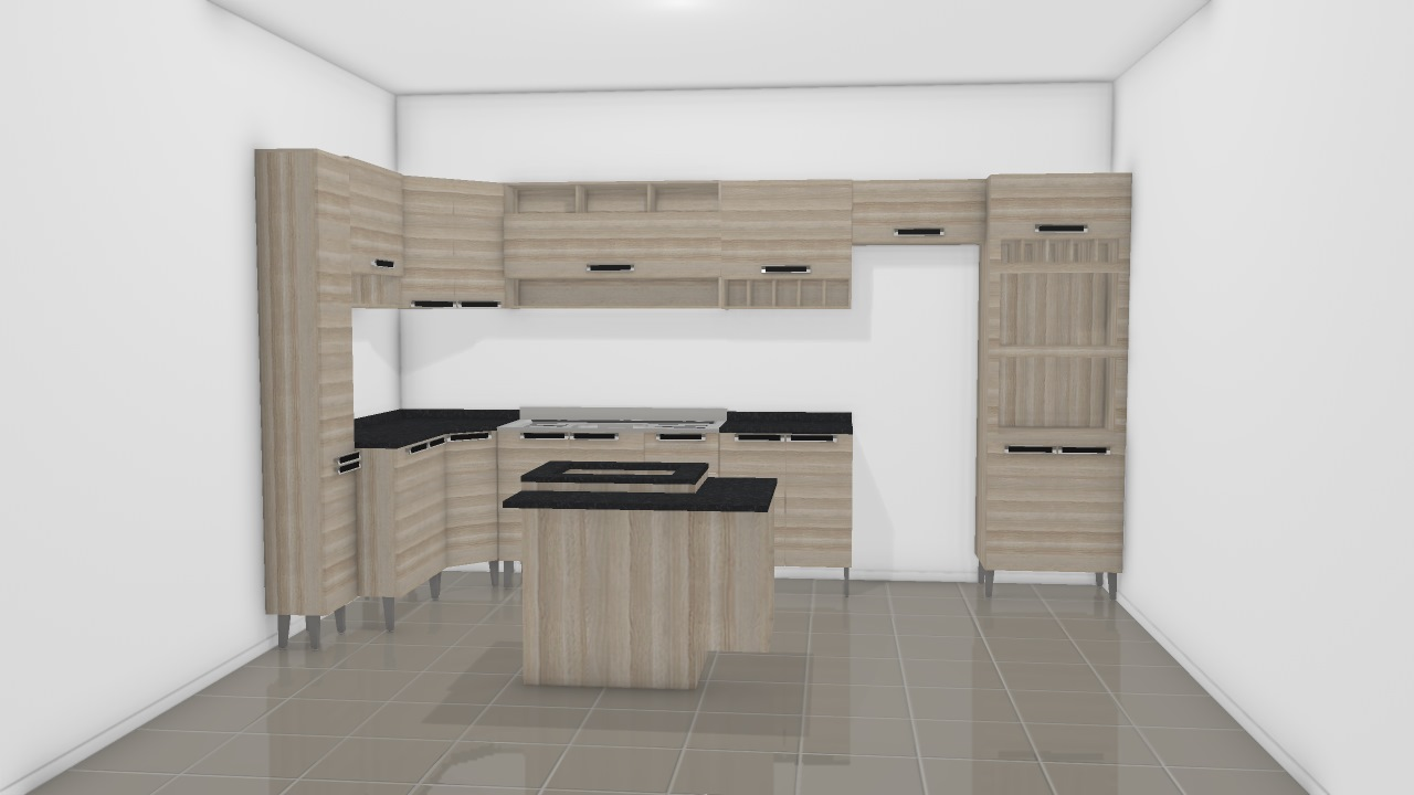 Cozinha Itatiaia Jazz Planta 3d Mooble